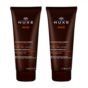 NUXE MEN GEL DOUCHE MULTI-USAGES VISAGE, CORPS ET CHEVEUX x2