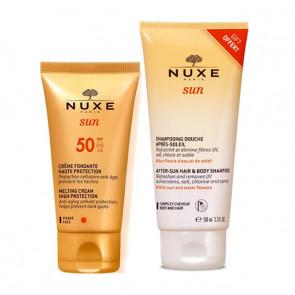 NUXESUN FLUIDE VISAGE HAUTE PROTECTION SPF50 + SHAMPOOING DOUCHE APRES SOLEIL OFFERT